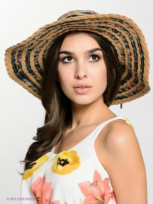 Шляпа FOMAS. Цвет: зеленый, бежевый