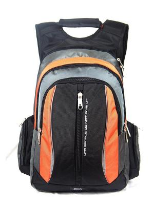 Рюкзак UFO PEOPLE. Цвет: черный, серый, оранжевый