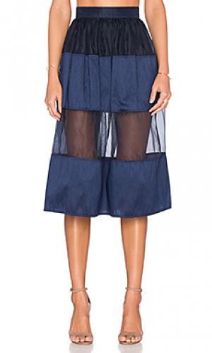 Юбка-шорты rosie VIVIAN CHAN. Цвет: синий