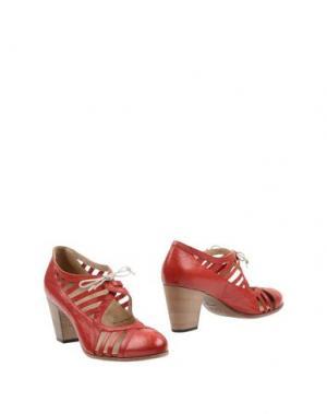 Ботинки INK. Цвет: красный