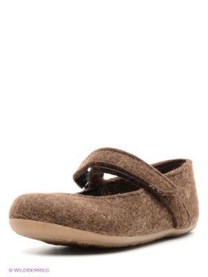 Тапочки Haflinger. Цвет: коричневый