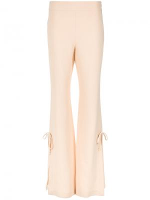 Side lace up flared trousers Nk. Цвет: телесный