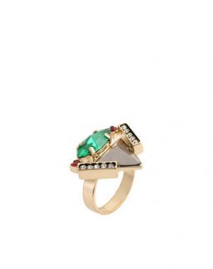 Кольцо IOSSELLIANI. Цвет: зеленый