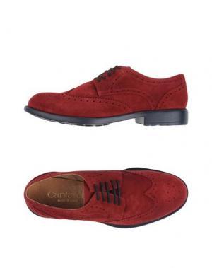 Обувь на шнурках CANTARELLI. Цвет: кирпично-красный