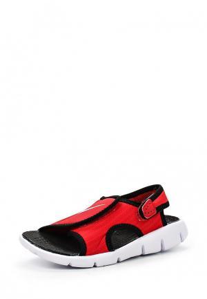 Сандалии Nike. Цвет: красный