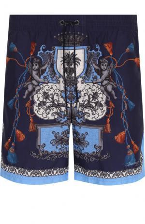 Плавки-шорты с принтом Dolce & Gabbana. Цвет: синий