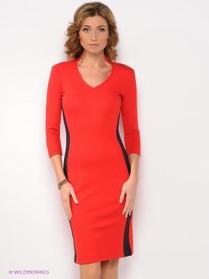 Платье Анна Чапман. Цвет: красный, черный