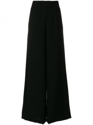 Широкие брюки с завышенной талией Francesco Paolo Salerno. Цвет: чёрный