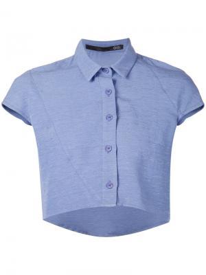 Укороченная рубашка Ødd.. Цвет: синий