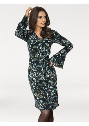 Платье Ashley Brooke. Цвет: черный/бирюзовый