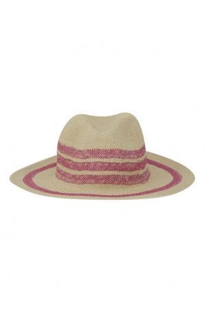 Плетеная шляпа Bonpoint. Цвет: розовый
