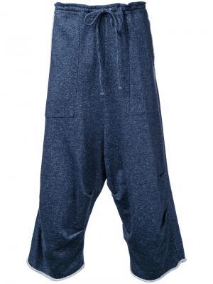 Спортивные брюки с заниженной проймой Forme Dexpression D'expression. Цвет: синий
