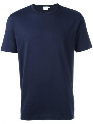 Базовая футболка Sunspel. Цвет: синий