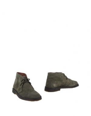 Полусапоги и высокие ботинки CANTARELLI. Цвет: зеленый