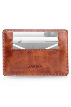 Обложка для автодокументов ZAVTRA. Цвет: коричневый