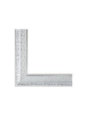 Багетные рамы. 1041-BL Anna (серебряный) Белоснежка. Цвет: белый