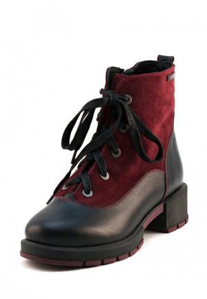 Ботинки Jeleni. Цвет: бордовый