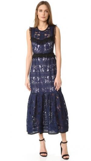 Платье Bloom Three Floor. Цвет: темно-синий/лиловый