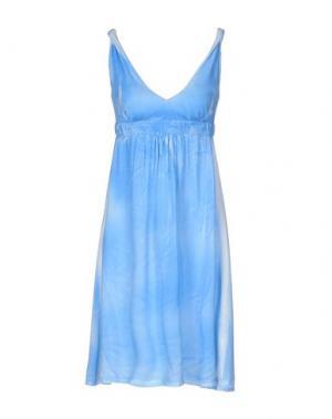 Короткое платье MONICA •LENDINEZ. Цвет: лазурный