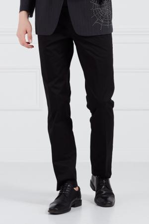 Хлопковые брюки Bruuns Bazaar. Цвет: черный