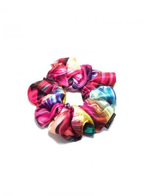 Резинка тканевая la France. Цвет: голубой, фиолетовый, фуксия, розовый, персиковый, черный, зеленый