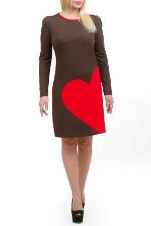 Платье Валента LESYA. Цвет: коричневый