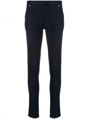 Эластичные брюки Chalayan. Цвет: синий