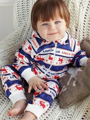 Брюки, 2 шт. Lucky Child. Цвет: синий, белый, красный