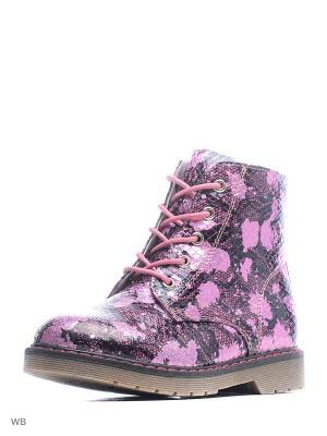 Ботинки San Marko. Цвет: розовый, черный