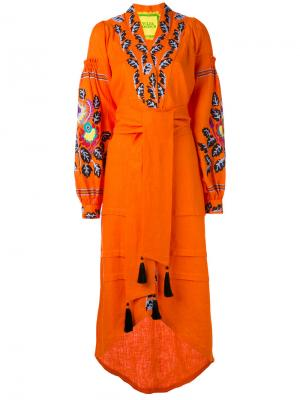 Платье Eden Tree Yuliya Magdych. Цвет: жёлтый и оранжевый