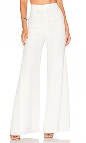 Шелковые брюки giuliana Misha Collection. Цвет: белый