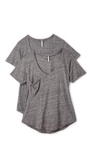 Набор из двух футболок Sno Yarn Z Supply. Цвет: серый