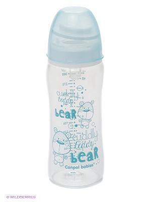 Бутылочка антиколиковая, 330 мл Canpol babies. Цвет: голубой