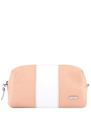 Косметичка Esse. Цвет: персиковый, белый