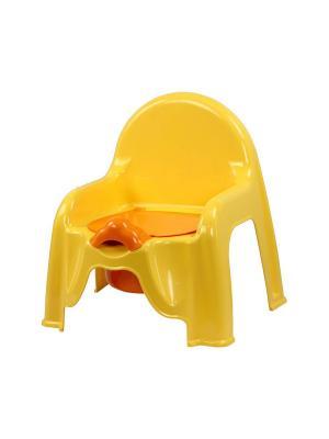 Горшок-стульчик (св.жёлтый) Альтернатива. Цвет: желтый, оранжевый