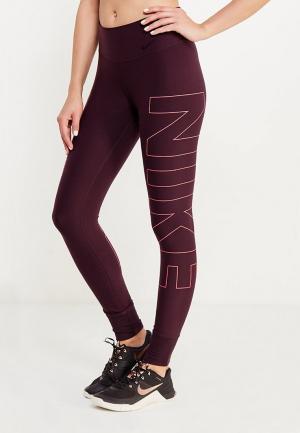 Тайтсы Nike. Цвет: бордовый