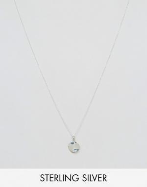 Kingsley Ryan Серебряное ожерелье с подвеской в виде диска. Цвет: серебряный