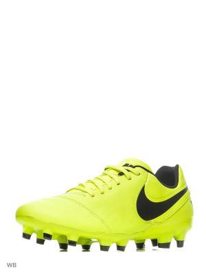 Бутсы TIEMPO GENIO II LEATHER FG Nike. Цвет: салатовый