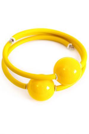 Браслет Divetro. Цвет: желтый