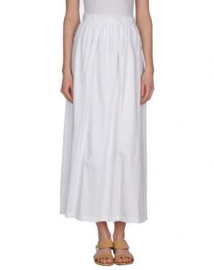 Длинная юбка EMPATHIE. Цвет: белый