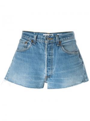 Джинсовые шорты Re/Done. Цвет: синий