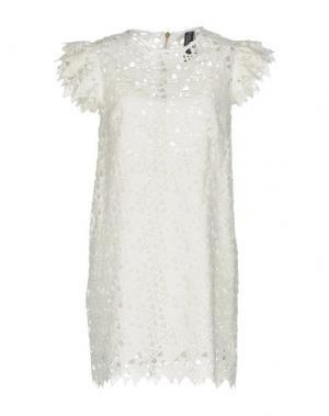 Короткое платье NORA BARTH. Цвет: белый