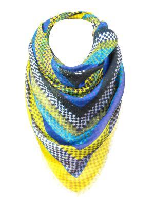 Платок Rob-art by Katya Rozhdestvenskaya. Цвет: желтый, синий, фиолетовый