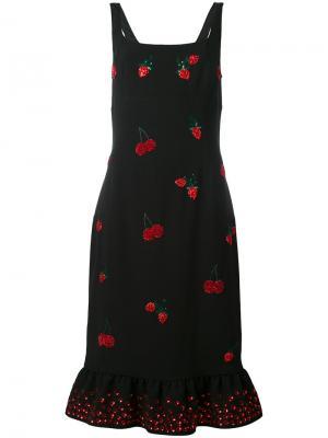 Sequinned berry dress Altuzarra. Цвет: чёрный