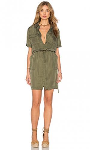 Платье lebombo Bailey 44. Цвет: оливковый