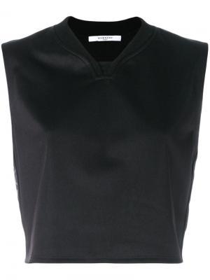 Укороченный топ без рукавов Givenchy. Цвет: чёрный