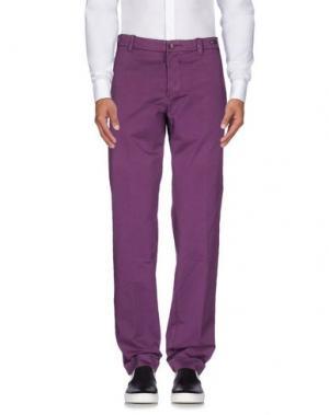 Повседневные брюки PT01. Цвет: розовато-лиловый