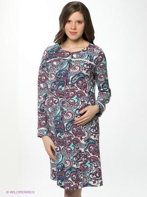 Платье Hunny Mammy. Цвет: темно-синий, бирюзовый, красный, белый