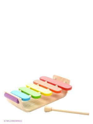 Овальный ксилофон PLAN TOYS. Цвет: бежевый
