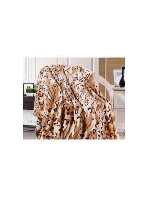 Плед Absolute 2,0 сп. Spot TexRepublic. Цвет: коричневый, бежевый, молочный, черный